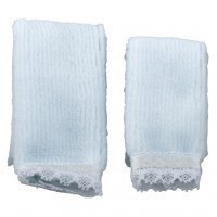 Dollhouse 2 pc Towel Set - Blue - Product Image