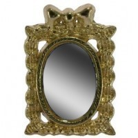 Dollhouse Gold Bow Mirror - Product Image