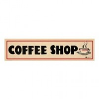 Dollhouse Coffee Shop Sign - Product Image