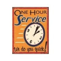 (**) One Hour Service Sign - Product Image