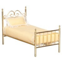 § Sale $5 Off - Dollhouse Brass Single Bed - Product Image
