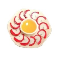 Dollhouse Apples & Honey Plate - Product Image