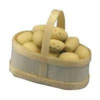 Dollhouse New Potatoes in Basket - Product Image