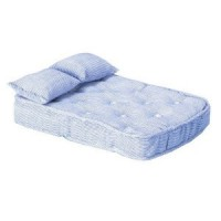 Dollhouse Blue Mattress with Pillows - Product Image