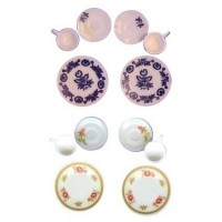 6 pc Floral Dish Set by Chrysnbon - Product Image