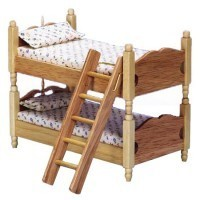 § Disc. $3 Off - Oak Colonial Bunk Bed w/Ladder - Product Image