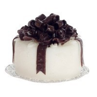 Cake White w/Chocolate Bow - Product Image