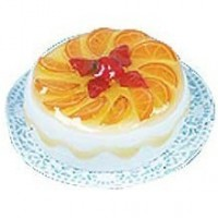 Dollhouse Orange Fruit Tart - Product Image