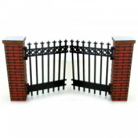 Dollhouse Bricked Gate 4 or 8 inch - Product Image