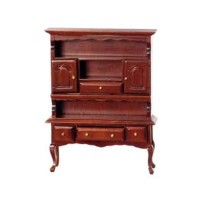 Disc $7 Off - Dollhouse Cherry Stain Hutch - Product Image