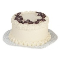 Dollhouse White Cake - Chocolate Roses - Product Image
