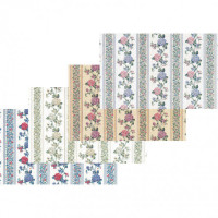 (§) Sale $3 Off - 3 Shts Kismet Stripe Paper- Choice of Color - - Product Image