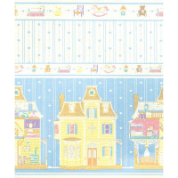 (§) Sale $1 Off - 2 Shts Dollhouse Fantasy Paper- Choice of Color - - Product Image