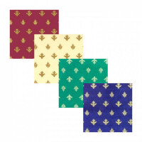 (§) Sale $1 Off - 2 Shts of Golden Majestic Wallpaper- Choice of Color - - Product Image