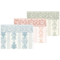 (§) Sale $1 Off - 2 Shts Symphony Stripe Wallpaper- Choice of Color - - Product Image