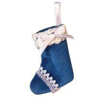 () Dollhouse Christmas Stocking- Choice of Color & Style - - Product Image