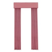 § Disc $7 Off - Dollhouse Rose Single Drape - Product Image