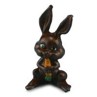 Dollhouse Chocolate Bunny with Carrot - Product Image