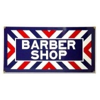 (**) Dollhouse Barber Shop Sign 1 - Product Image