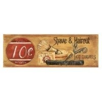 (**) Dollhouse Barber Shop Sign 3 - Product Image