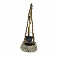 Dollhouse Campfire with Cookpot - Product Image