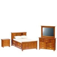 Dollhouse Walnut Bedroom - Product Image