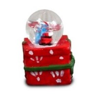 Dollhouse Present Water Globe - Product Image