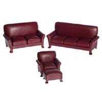 Bespaq Dollhouse Leather Living Room - Product Image