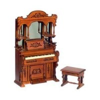 Dollhouse Victorian Upright Piano Set by Bespaq - Product Image
