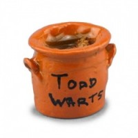 Dollhouse Miniature Toads Wart Crock - Product Image