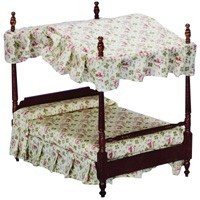 Dollhouse Double Canopy Bed - Product Image