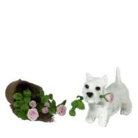Dollhouse W. Highlander Puppy & Broken Pot - Product Image