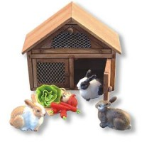 Dollhouse Rabbit Cage Set by Reutter Porzellan - Product Image