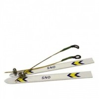 § Disc .70¢ Off - Dollhouse Skis & Poles Set - Product Image