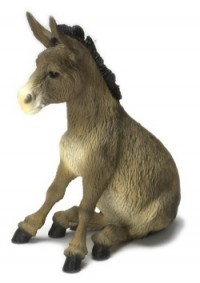 Dollhouse Sitting Donkey - Product Image