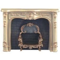 "Dollhouse Off-White ""Marble"" Fireplace - Product Image"