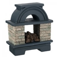 Dollhouse Arched Outdoor Fireplace - Product Image