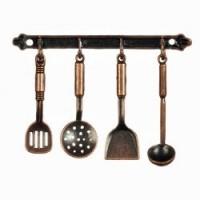 Dollhouse Hanging Iron Kitchen Utensils - Product Image