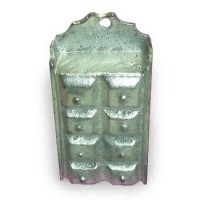 (*) Unfinished Dollhouse - Metal Wall Spice Rack - Product Image