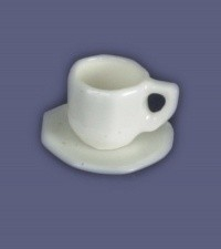 Dollhouse Octagon Cup & Saucer - Product Image