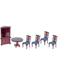 Round Dollhouse Dining Room - Product Image