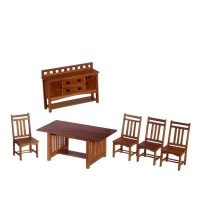 Dollhouse Mission Style Dining Room - Product Image