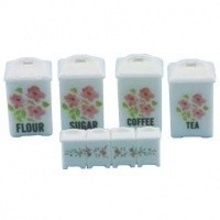 Pink Floral Canisters by Chrysnbon - Product Image