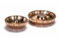 § Sale .20¢ Off - 2 Dollhouse Copper Bunt Pans - Product Image