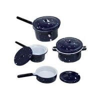 § Sale .40¢ Off - Blue or Red Spatterwear Pot Set - Product Image