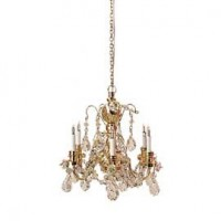 Dollhouse 6 Arm Austrian Crystal Chandelier - Product Image