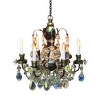 Dollhouse Nostalgia Six Arm Chandelier - Product Image