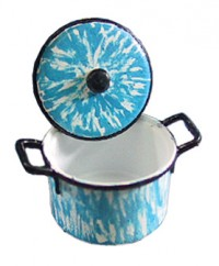 Dollhouse Blue Flow Stock Pot - Product Image