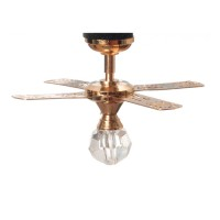 Small Brass Ceiling Fan (Non Working) - Product Image