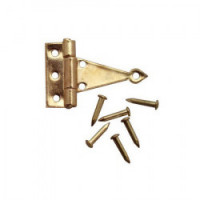 4 pc T-Hinges with Nails- Choice of Finish - - Product Image